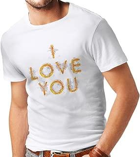 Men's T-Shirt I Love You Tumblr Valentines Day Romantic Gift Ideas