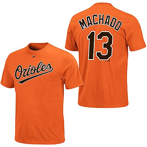 cab4a4c3f0a Majestic Manny Machado Baltimore Orioles Orange Youth Jersey Name and  Number T-shirt