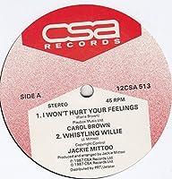 "I Won't Hurt Your Feelings - Carol Brown / Jackie Mittoo 12"""