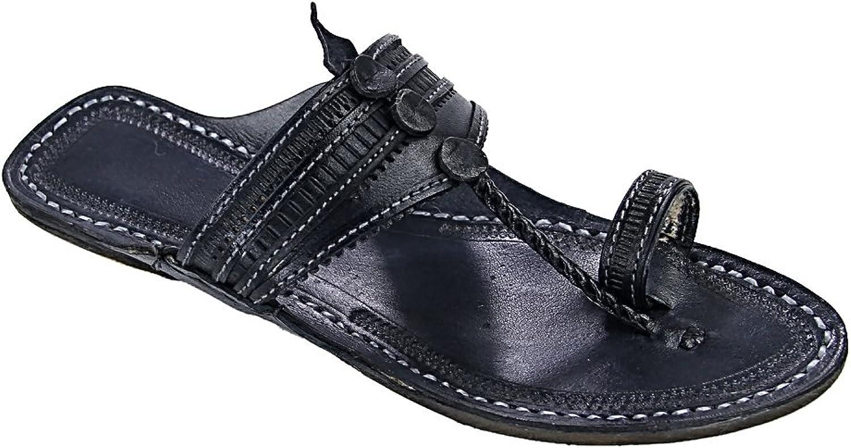 KOLHAPURI CHAPPAL Original Black Pointed Attractive for Men Slipper Sandal