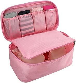 Necessaire Organizadora Viagem Lingerie Maquiagem Bolsa Mala (Rosa Claro)