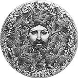 Power Coin Paradiso The Divine Comedy 700 Aniversario 5 Oz Moneda Plata 5000 Francos Cameroon 2021