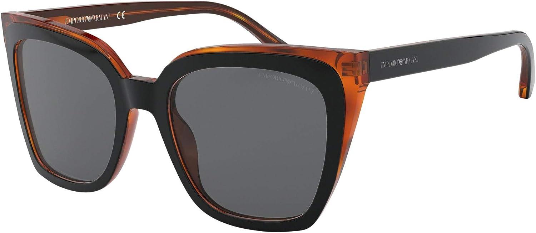 Emporio Armani EA 4127 BLACK YELLOW TORTOISE GREY women Sunglasses