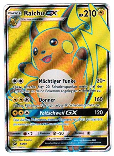 Pokémon - Fullart Foil Raichu-GX SM90 Promokarte - deutsch