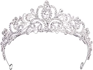 Birthday Crown and Princess Tiara for Women Girls Bride Queen Bridesmaid Wedding Headbands Headpieces Crystal Beads Sliver Crown Jewelry for Wedding Birthday Pageant Party Prom Valentine's Day