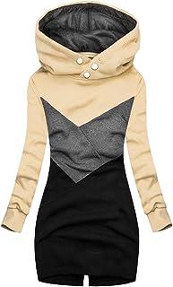 Felpa da Donna Fashion Plaid Print Jacket Zipper Cappotto Manica Lunga con Tasca