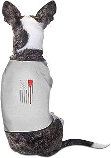 Vintage Lacrosse Stick American Flag Pet Clothing T Shirts Costume Vest Pet Suit