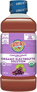 Earth's Best Organic Electrolyte Solution, Concord Grape, 1 Liter, 4 Count