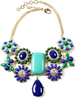 Verve Statement Bib Necklace, Blue Multi