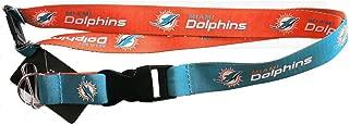 aminco NFL Miami Dolphins Reversible Lanyard, Teal/Orange