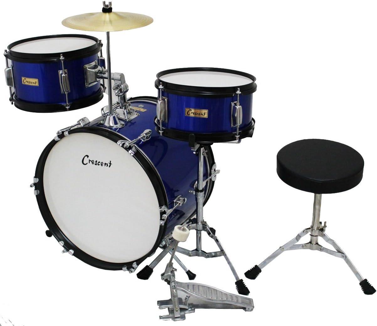 Crescent Blue Metallic 16 いよいよ人気ブランド Inch Beginner 期間限定の激安セール Drum Junior Bas with Set