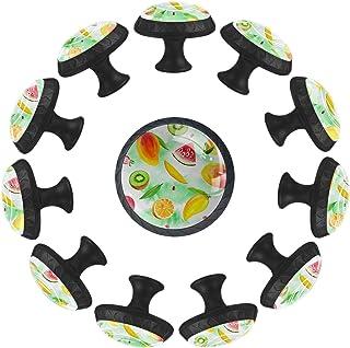 Boutons D'armoire 12 Pcs Poignés Poignée De Champignons Porte Poignées avec Vis pour Cabinet Tiroir Cuisine,Fruits Mangue ...