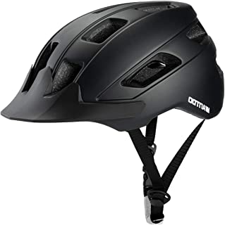 Wantdo Specialized Bike Helmet Safety Bicycle Helmet with Removable Visor Adjustable and Multi-Sports Helmet with Air Vents for Men and Women,Youth for Road Mountain Skateboard BMX