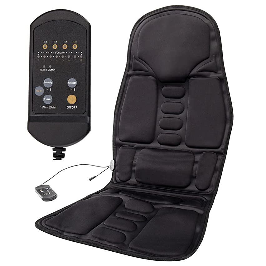 寝てるトースト臭いtropical シートマッサージャー マッサージシート 椅子 腰 カーシートカバー 高品質PUレザー製 シートマッサージャー 車載用ツインバードマッサージシート カーシートカバー ヒーターマッサージ 5機能5もみ玉付き 8段階マッサージモードフリー 車シート椅子汎用 オートオフタイマー内蔵 伸縮ストラップ付 持ち運び便利 取り付け簡単 首?肩?背中?腰?尻?腿マッサージ オフィス旅行