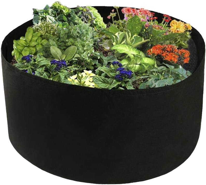 Toyfun 100 Gallon Grow Bags Extra Large Fabric Raised Planting Bed Round Raised Planter Garden Bed Bag Durable Felt Fabric Planter Pot for Herb Flower Vegetable Plants