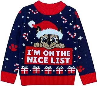 Patrulha Canina Chase Suéter I'm On The Nice lista Ugly Christmas Suéter infantil