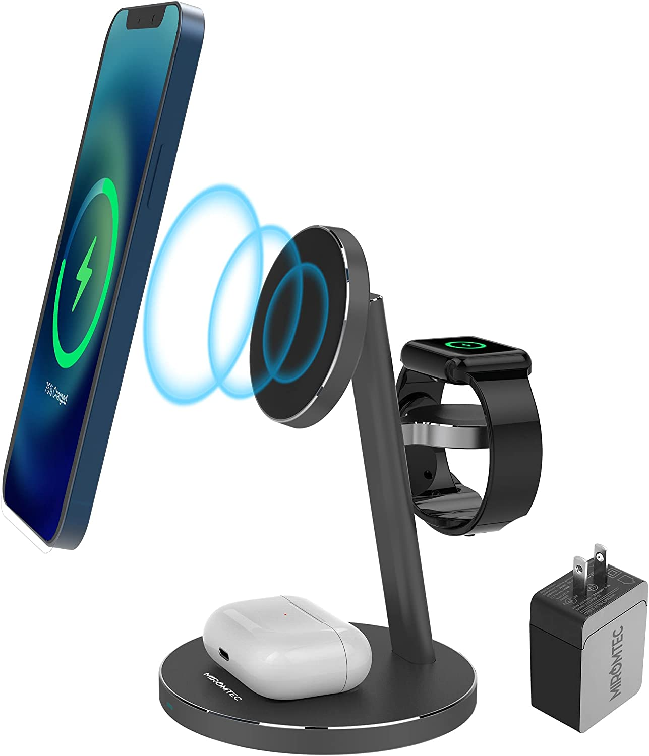 3 in 1 Magnetic Wireless Mag-Safe Charger Ranking TOP6 Manufacturer regenerated product for Charging Station