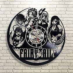 Fairy Tail Anime Wall Clock - Fairy Tail Anime Wall Clock Vinyl Record Wall Clocks Fairy Tail Anime Gifts Fairy Tail Anime Unique Art Fairy Tail Anime Handmade Retro Clock Wall Clock Vintage