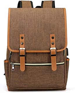 Computer Anti-Theft Bags Male Daypack - Men Laptop Backpack Fits 15.6 inch USB Charging Port & Headphone Interface Backpac...