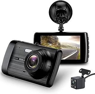 "Dash Cam, Car Camera Dashboard Camera Recorder Car DVR 1080P HD Night Vision, Wide-Angle Car Video Recorder with 3.7"" LCD inch Display Video G-Sensor Loop Recording (Black) (Black)"