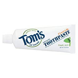 Tom's of Maine Travel Natural Toothpaste, Fresh Mint, 3 Ounce