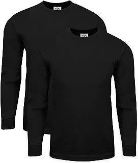 2Pack Men's Max Heavy Weight 7 oz Cotton Long Sleeve T-Shirt