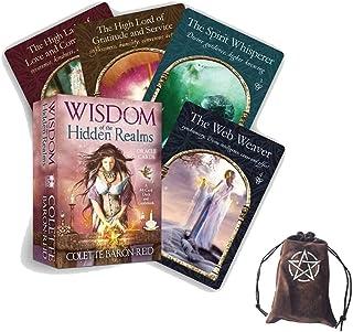 Visdom av de dolda riket Oracle Tarot-korten, med sammet lagringsäck,Wisdom Of The Hidden Realms Oracle tarot Cards,tarot...