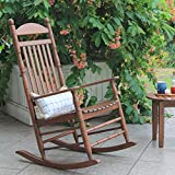 Cambridge Casual Solid Wood Bentley Traditional Porch Rocking Chair, Rocker, Natural Brown
