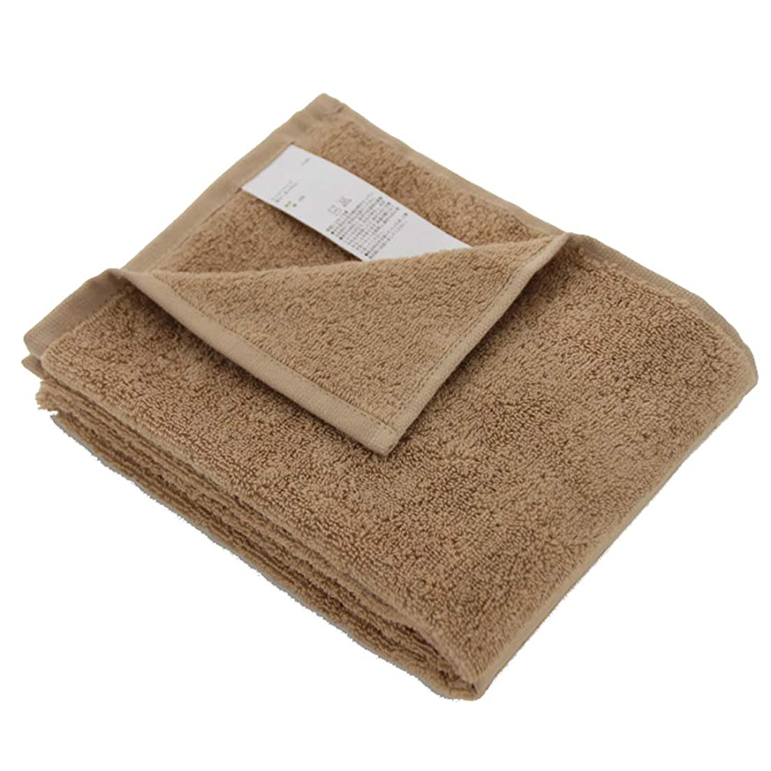 豪華な行き当たりばったり事実上URVIP フェイスタオル 洗面用 2枚セット 瞬間吸水 34㎝*85㎝ 綿100% 無地 ブラウン