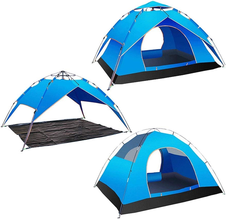 DaQingYuntur Zelt Outdoor Family Indoor Outdoor Outdoor Camping Camping winddicht und regendicht im Freien Zelt, 2-3 Personen - Drei Verwendungsarten, Wasserfeste und insektenfeste Sonnencreme, Fast E