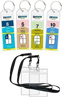 Cruise Luggage Tags Etag Holders Zip Seal & Steel Loops for Royal Caribbean & Celebrity Cruise (4 Pack + 2 ID Holders)