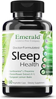 Emerald Labs Sleep Health with Melatonin, L-Theanine and Passionflower Extract to Support Nighttime Calmness, Relaxation, ...