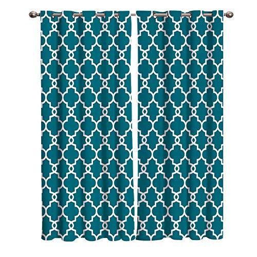 QGWMCD Thermo Verdunklungsgardine Ösenschal VorhangGrüne und weiße geometrische StreifenLichtundurchlässige Vorhang mit Ösen für Schlafzimmer Geräuschreduzierung 140x250cm x2