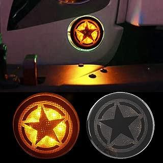 Z8LED Five Star Turn Signal Amber LED LED Amber Smoke Lens Flasher Lights for Jeep Wrangler JK JKU