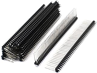 uxcell 10Pcs 2.54mm 80Pin Double Row Straight Pin Header Connector Strip 20mm
