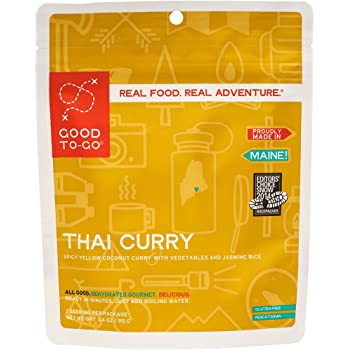 GOOD TO-GO Thai Curry   Dehydrated Backpacking and Camping Food   Lightweight   Easy to Prepare