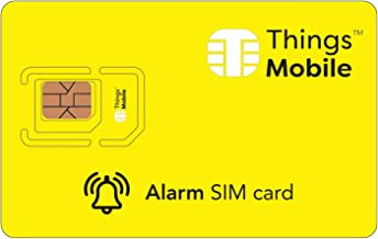 SIM Card for Anti-Intrusion Alarm System - Things Mobile - Global Coverage, Multi-Operator GSM/2G/3G/4G Network, No Fixed Costs, No Expiration Date, Competitive Rates. $10 Credit Included