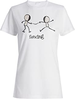 Esgrima Deportes cómico Nuevo Camiseta de Las Mujeres g169f