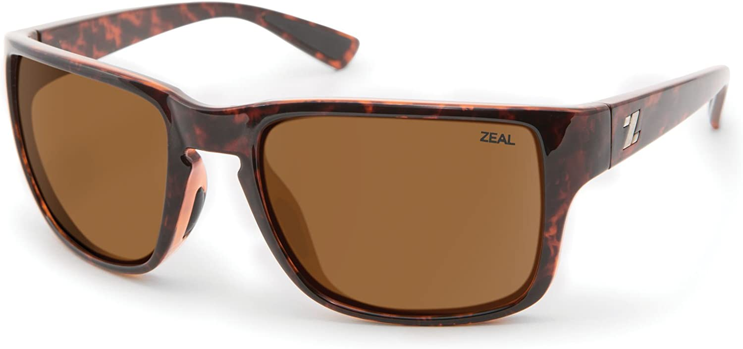 Zeal Optics Unisex Cascade Tortoise Copper Polarized Lens Sunglasses
