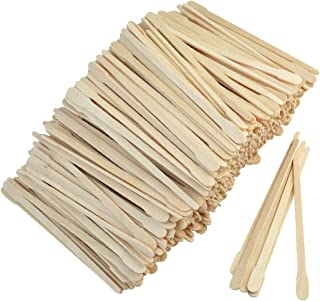 1000pcs Wax Spatulas Small Wax Wood Sticks, Waxing Applicator Sticks Wooden Craft Sticks Spatulas Applicators Hair Nose Wax Stick for Hair Body Eyebrow Removal