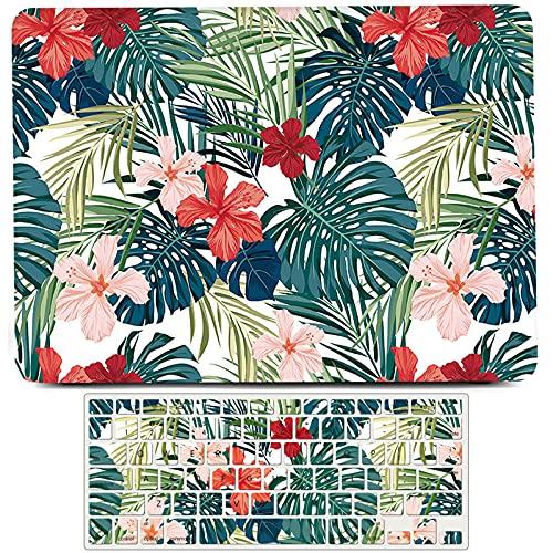 L2W Blosssoming Flower Fundarígida de plástico Compatible con Macbook Air de 11 Pulgadas, Modelo A1370 A1465, Funda Protectora Mate para Ordenador portátil, Funda para Teclado, Flores Rojas