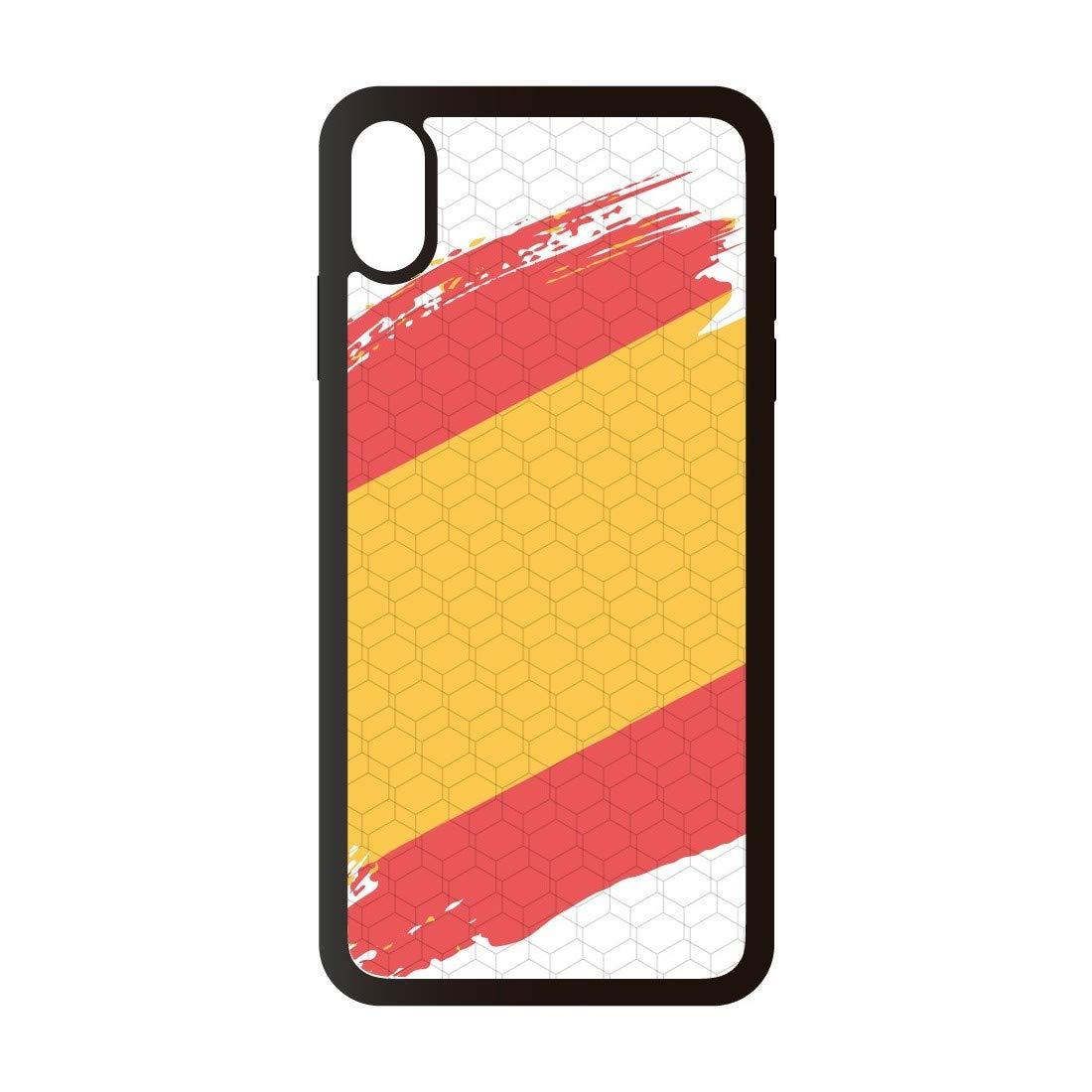 PHONECASES3D Funda móvil Compatible con iPhone XS MAX España Bandera. Carcasa de TPU de Alta protección. Funda Antideslizante, Anti choques y caídas.: Amazon.es: Electrónica