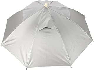 Umbrella Hat, Fishing Umbrella Cap Handsfree Waterproof UV Protection Lightweight Umbrella Parasol Sun and Rain for Camping Outdoor Beach Hiking