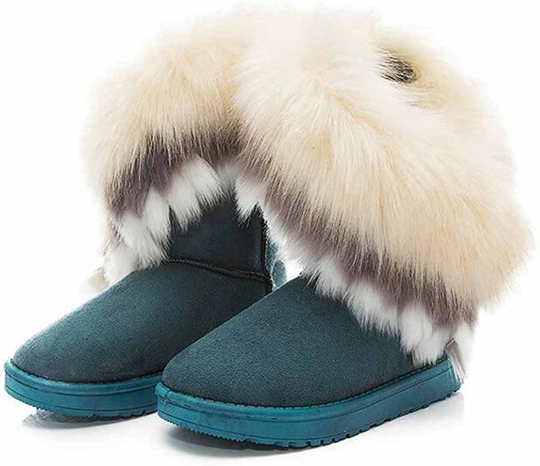 Women Winter Warm Plush Snow Boots Artificial Short Boots Outdoor Cotton Flat shoes