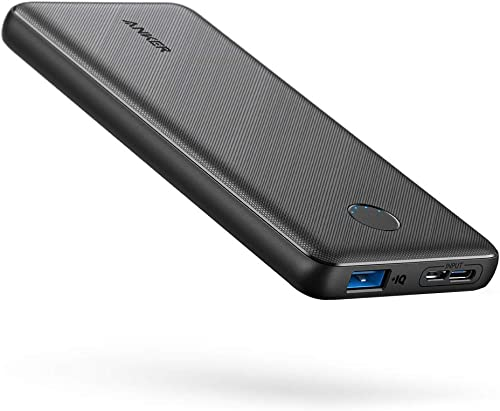 Anker Portable Charger PowerCore Slim 10000 Power Bank 10000mAh Battery Pack High-Speed PowerIQ Charging Technology for iPhone Samsung Galaxy and More