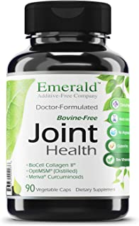 Joint Health - with BioCell Collagen II, Meriva & Opti MSM - Supports Joint Pain Relief, Healthy Cartilage, Mobility - Emerald Laboratories - 90 Vegetable Capsules