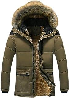 pipigo Men Windbreaker Thicken Stand Collar Quilted Warm Winter Parka Jackets Coats