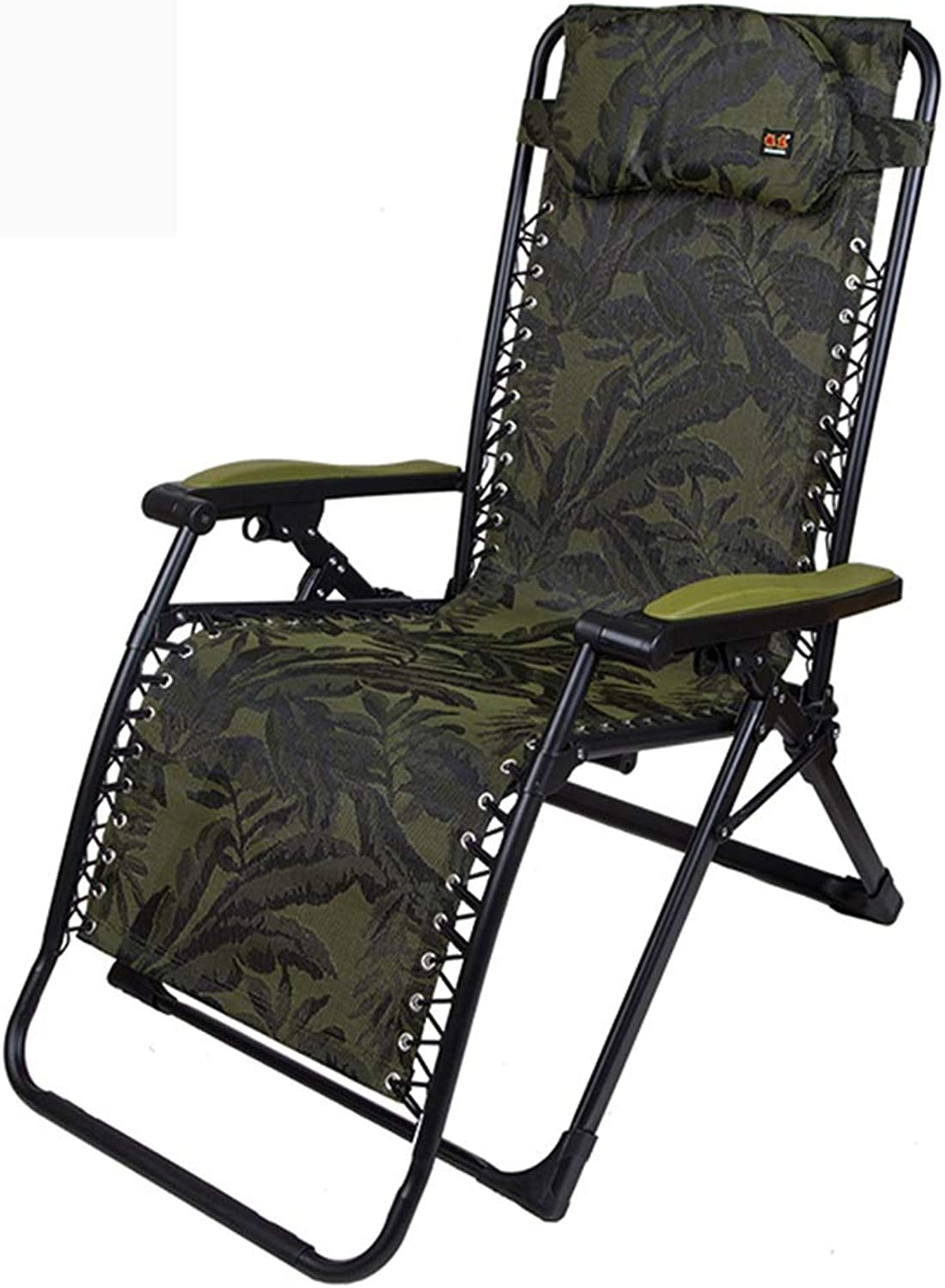 Recliners Lounge Chair Sun Lounger Garden Folding Chair Home Balcony with Chair Office Lunch Chair Outdoor Portable Camp Bed Can Bear 250 Kg (color   Green, Size   69.5  178cm)