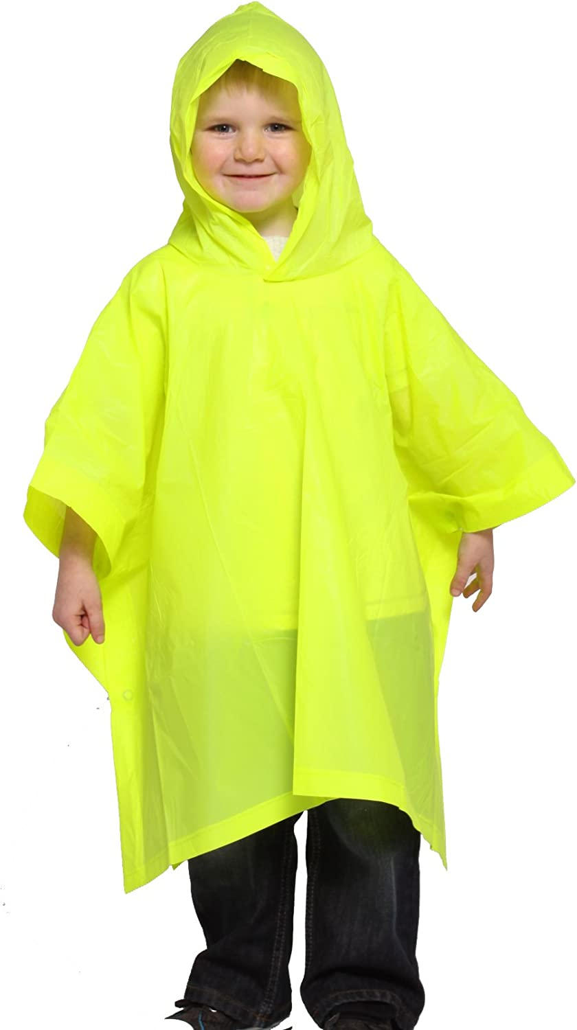 StayDry Rain Poncho Child Size Suit Ages 6-10 Years Waterproof EVA Material with Hood