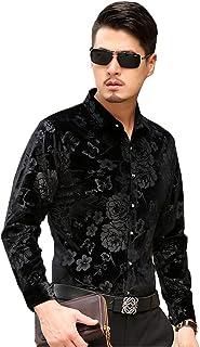 ISMEN Men's Casual Long Sleeve Dress Shirts